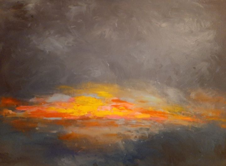 """Painting titled """"""""where there is lig…"""" by Edith Stütz, Original Art, Acrylic"""