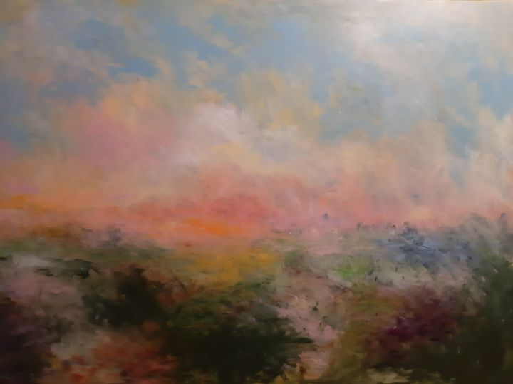 """Painting titled """"ONLY TIME"""" by Edith Stütz, Original Art, Acrylic"""