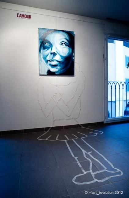 Accrochage exposition espace St Nazaire - Painting ©2012 by EDITH DONC -                        Conceptual Art