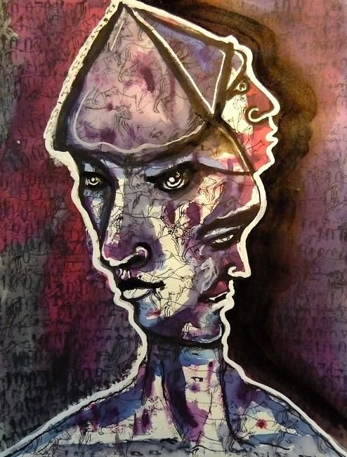 Tritête - Drawing,  21x29 cm ©2012 by EDITH DONC -