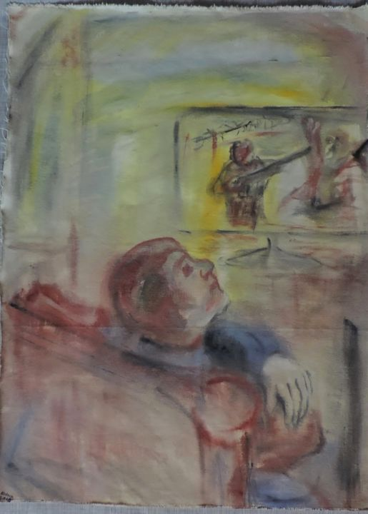 Padre-Madre - Painting,  75x58 cm ©2015 by Edna Cantoral Acosta -
