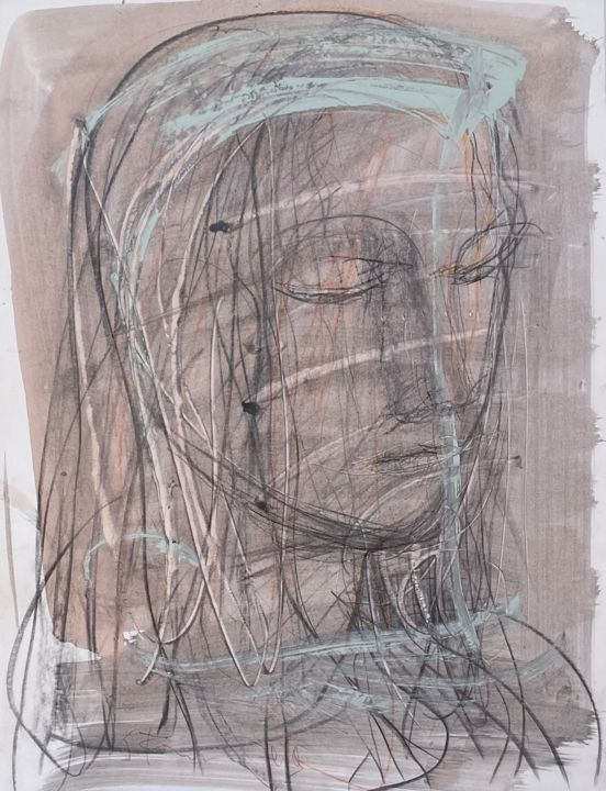 """Drawing titled """"A dream#4"""" by Eduard Belsky, Original Art, Etching"""