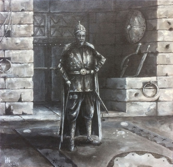 """Painting titled """"Lame TIMUR king"""" by Iltay Sayyed, Original Art, Acrylic"""