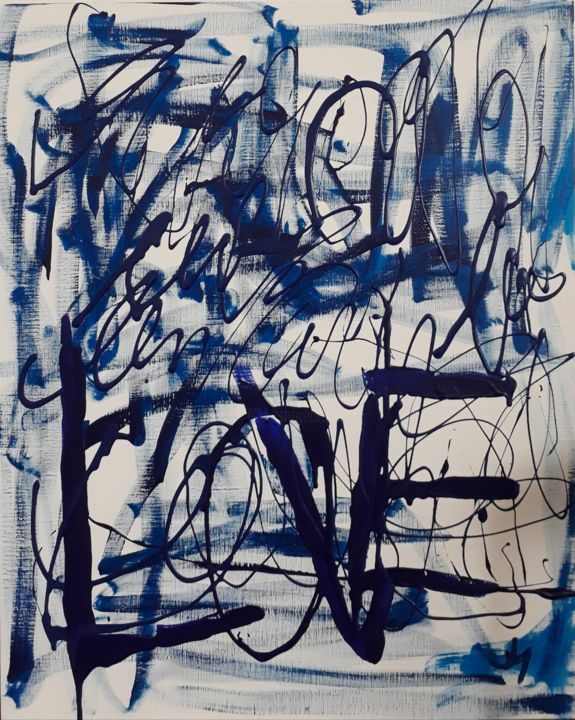 """Painting titled """"LOGOS1"""" by Pinky, Original Art, Acrylic"""