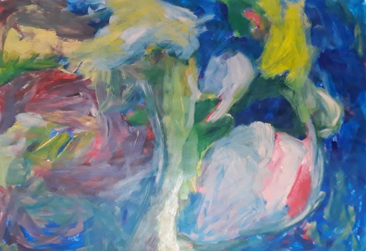 """Painting titled """"In the jazz"""" by Pinky, Original Art, Acrylic"""