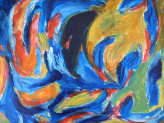 """Painting titled """"In the jazz (2)"""" by Pinky, Original Art, Acrylic"""