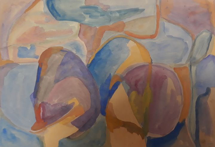 """Painting titled """"My unconscious"""" by Pinky, Original Art, Watercolor"""