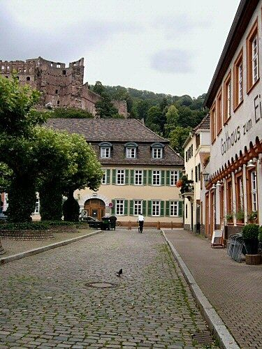 Evening in Heidelberg - Photography, ©2005 by Efi Keren -                                                                                                                                                                                                                                                                                                                                                                                                                                                                                                                                                                                                                                                                                                                                                                                                                                                                                                                                  city, urban, municipal, town, residence, old, aged, elderly, senior, building, designing, planning, erection, construction, architecture, structure, house, buildings, Germany, country