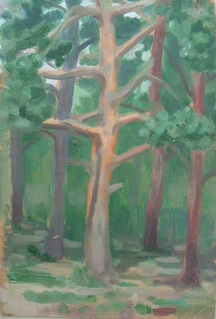"""Painting titled """"Pines"""" by Alexei Efimov, Original Art,"""