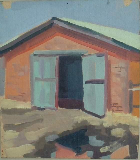 """Painting titled """"Kow`s house"""" by Alexei Efimov, Original Art,"""