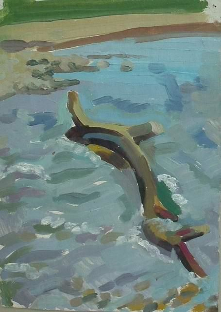 """Painting titled """"Spring river"""" by Alexei Efimov, Original Art,"""