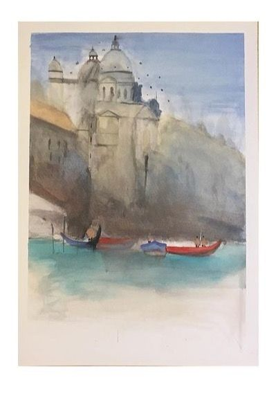 """Painting titled """"rome italy"""" by Ehsan Attarian, Original Art, Watercolor"""