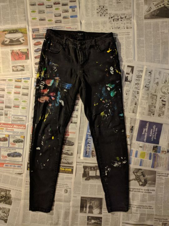 """Painting titled """"Jeans #2"""" by Eileen The Artist, Original Art, Acrylic"""