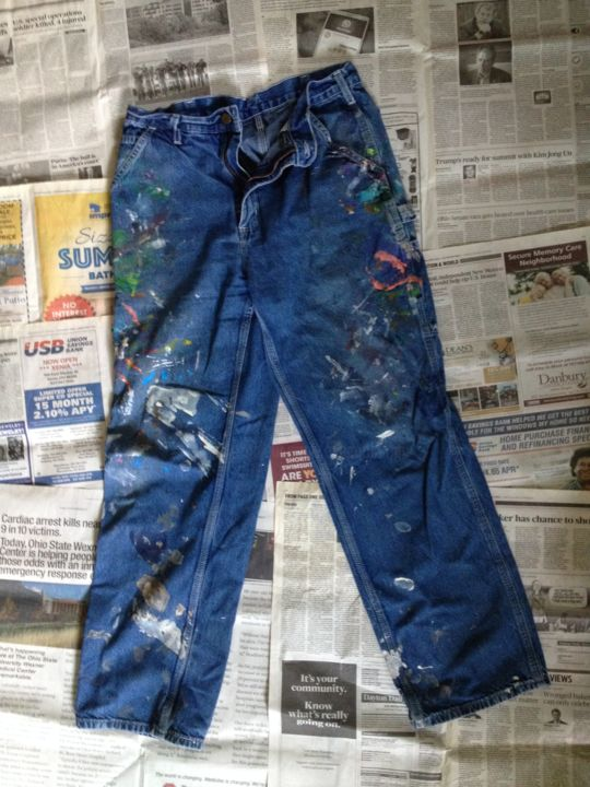 """Painting titled """"Jeans #8"""" by Eileen The Artist, Original Art, Acrylic"""