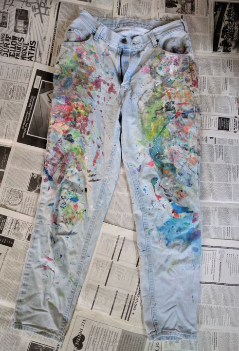 """Painting titled """"Jeans #6 B"""" by Eileen The Artist, Original Art, Acrylic"""