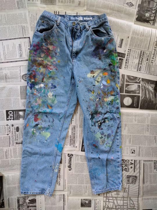"""Painting titled """"Jeans # 7 B"""" by Eileen The Artist, Original Art, Acrylic"""