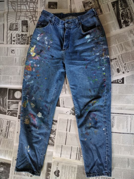 """Painting titled """"Jeans # 9 A"""" by Eileen The Artist, Original Art, Acrylic"""