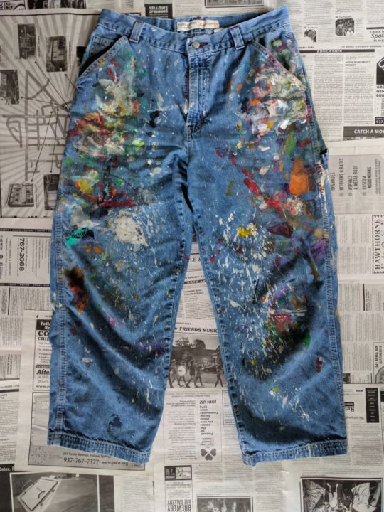 """Painting titled """"Jeans #4 B"""" by Eileen The Artist, Original Art, Acrylic"""