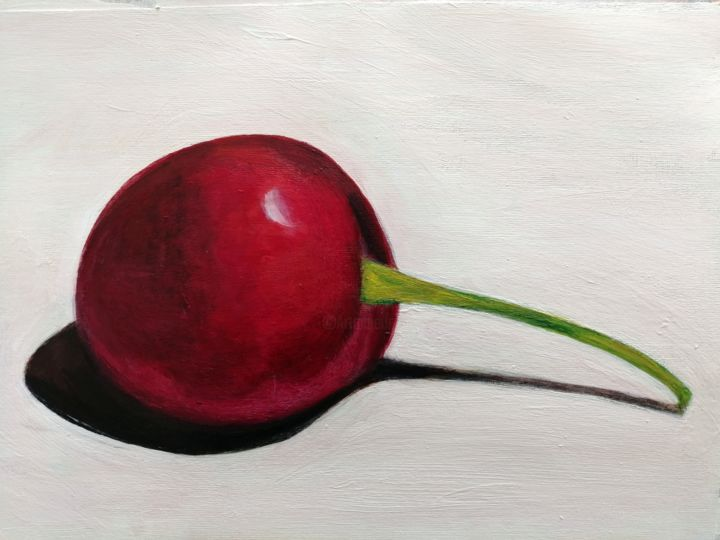 """Painting titled """"Cherry"""" by Elly B, Original Art, Acrylic"""