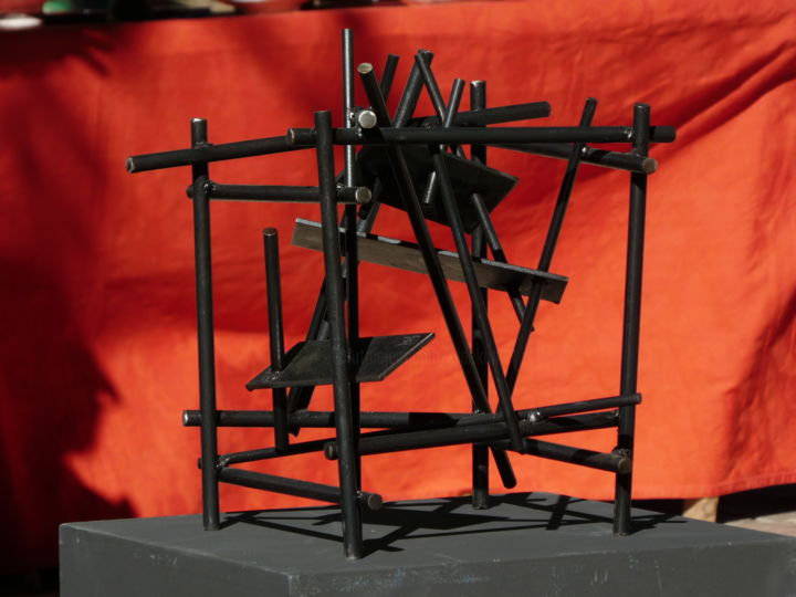 Cube ? - ©  eldekan, sculpture, iron, acier, art contemporain Online Artworks