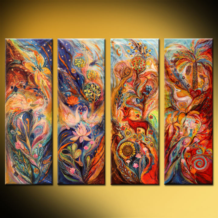 Four Elements Art : Four elements air water earth and fire elena kotliarker