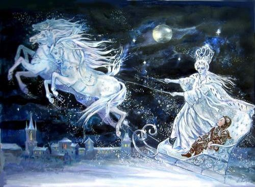 """Painting titled """"The Snow Queen"""" by Elena Ringo, Original Art,"""