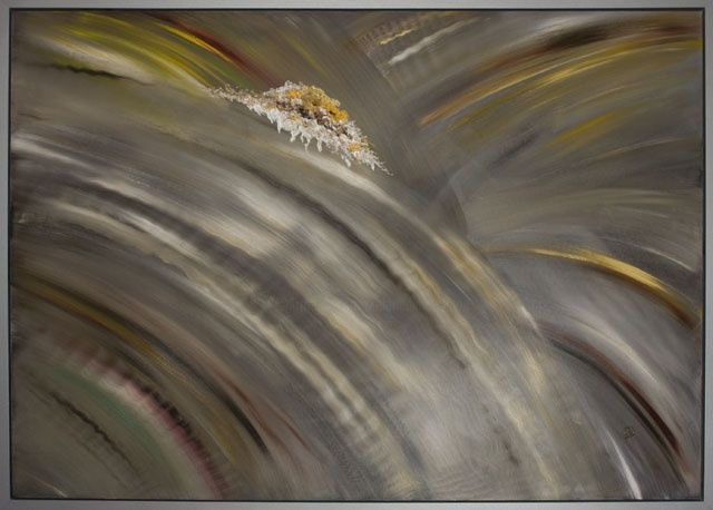 """Painting titled """"Abstract - Sparkler…"""" by Elena Dimopoulos, Original Art,"""