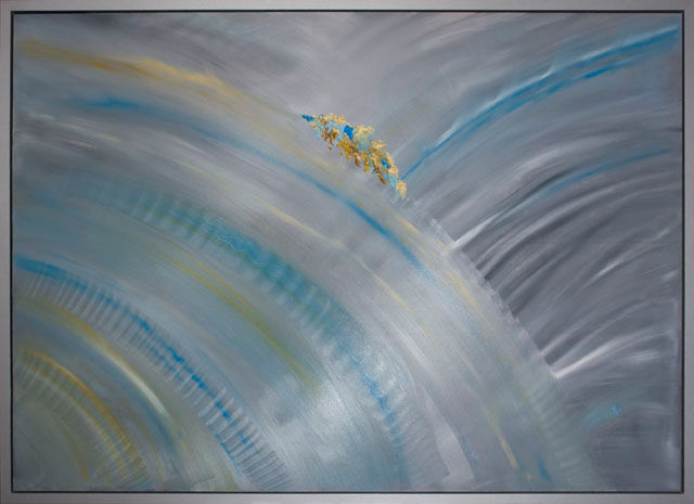 """Painting titled """"Abstract - Silk Org…"""" by Elena Dimopoulos, Original Art,"""