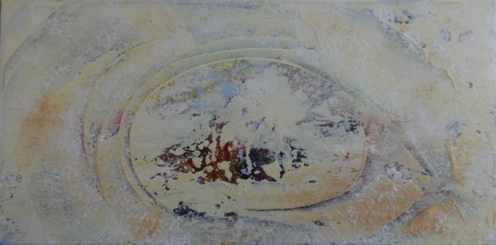 paysage - Peinture,  11,8x23,6x0,4 in, ©2019 par Elfi -                                                                                                                          Abstract, abstract-570