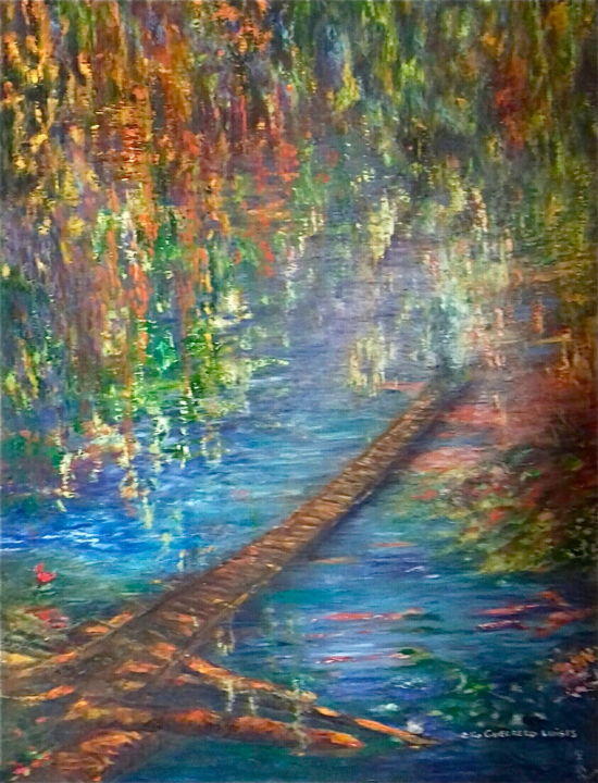 """Painting titled """"Clandestino"""" by Elia Guerrero, Original Art, Oil"""