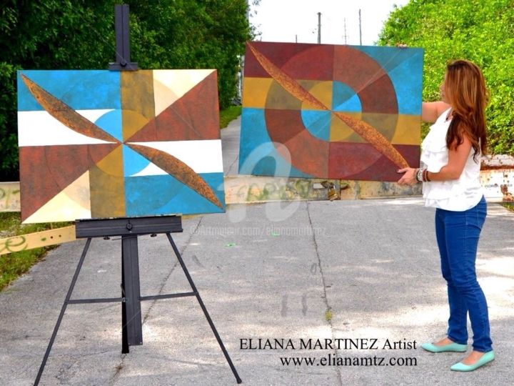 Working on a Dream Serie - Painting,  30x40 in, ©2013 by Eliana Martínez -