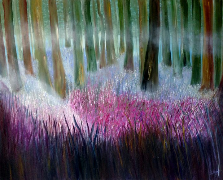 Forest With Spring Flowers Eliane Ellie