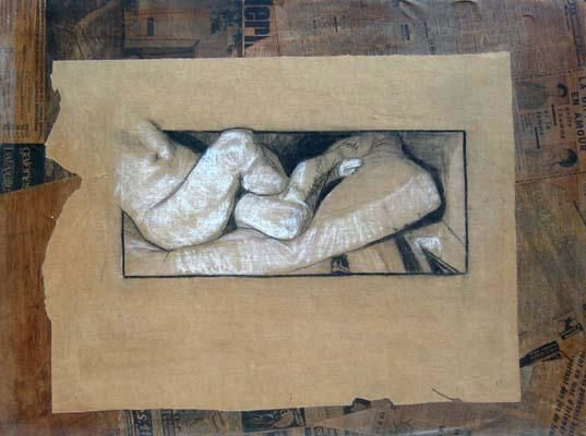 Morceau 4 - Drawing,  32.3x43.3x0.4 in, ©2004 by Eligriv Tempfoli -