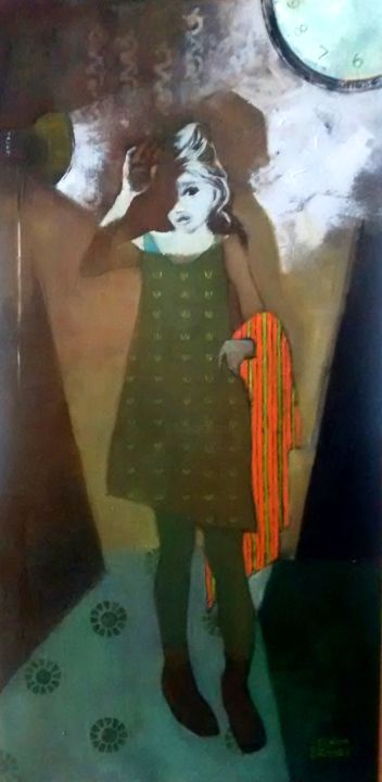 """Painting titled """"Ray"""" by Elinor Brodsky, Original Art, Oil"""
