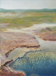 """Painting titled """"Geysir Hole"""" by Elisabet Stacy-Hurley, Original Art,"""