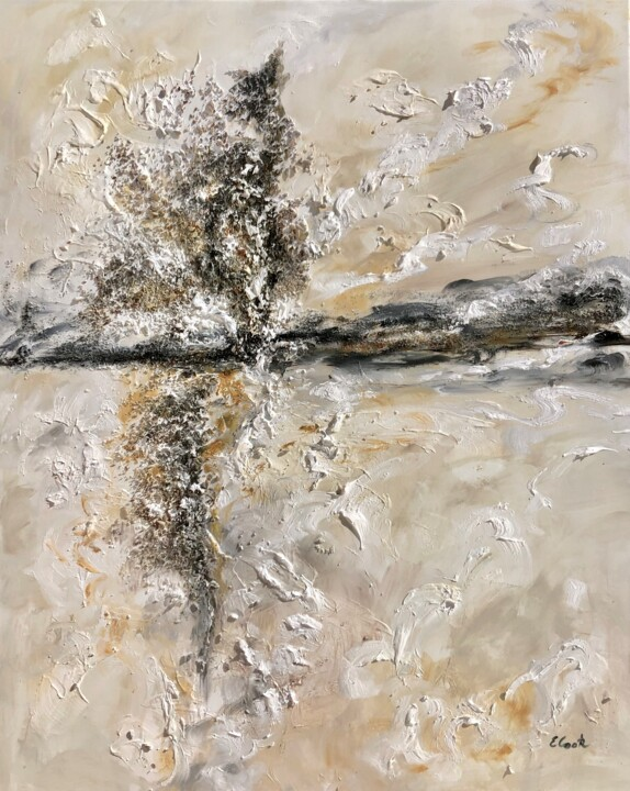 Rising from the Ashes - Painting,  31.5x25.2 in, ©2019 by Elisa Cook -                                                                                                                                                                                                                                                                                                                                                                                                                                                      Abstract, abstract-570, Abstract Art, abstract painting, mixed media, spanish artist, swiss artist, texture painting, abstracto