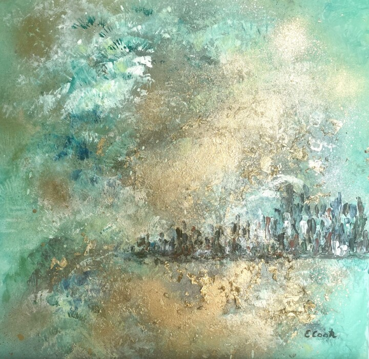 Seascape Painting, acrylic, impressionism, artwork by Elisa Cook