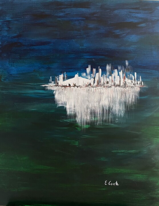 """Painting titled """"Nights in White Sat…"""" by Elisa Cook, Original Art, Acrylic"""