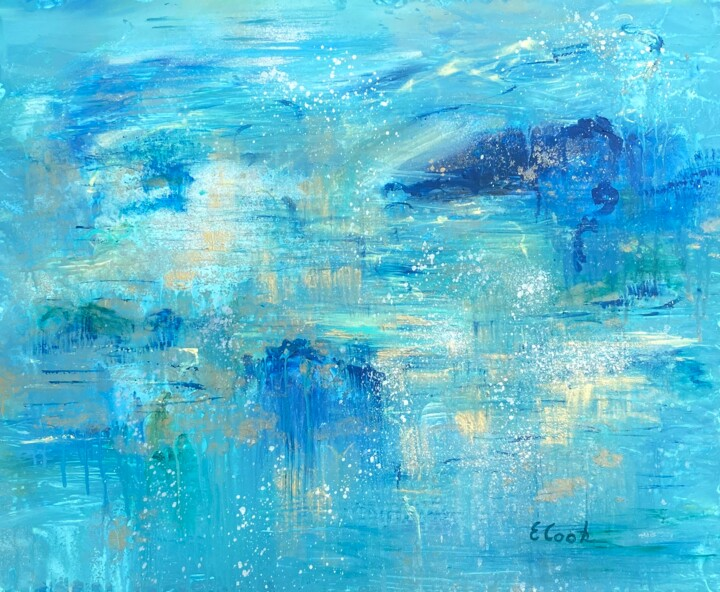 """Painting titled """"Early Morning Rain 2"""" by Elisa Cook, Original Art, Acrylic"""