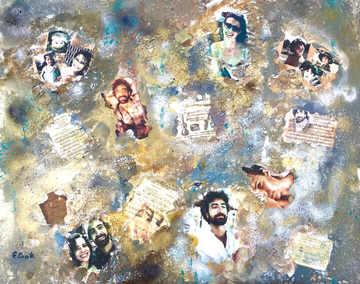 """Collages titled """"Precious Memories"""" by Elisa Cook, Original Art, Acrylic"""