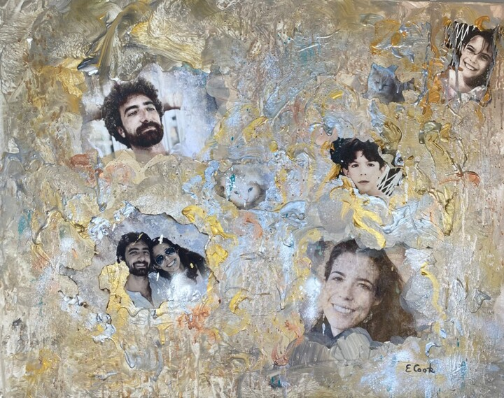 """Collages titled """"Family Matters"""" by Elisa Cook, Original Art, Acrylic"""