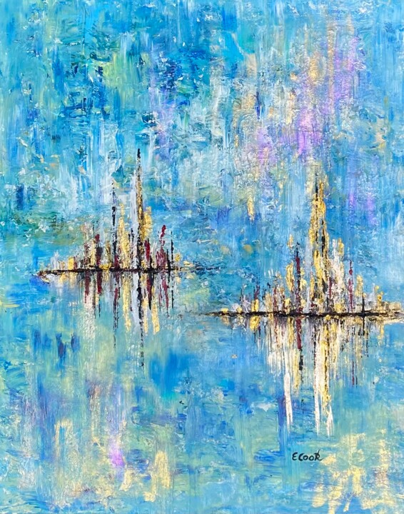 """Painting titled """"Twin Reflections"""" by Elisa Cook, Original Art, Acrylic"""