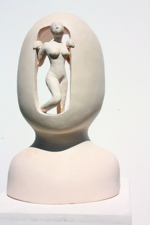 """Sculpture titled """"Meeting with the re…"""" by Elisaveta Sivas, Original Art, Clay"""