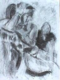 """Drawing titled """"lady on chair"""" by Elise Ja'Nette, Original Art,"""