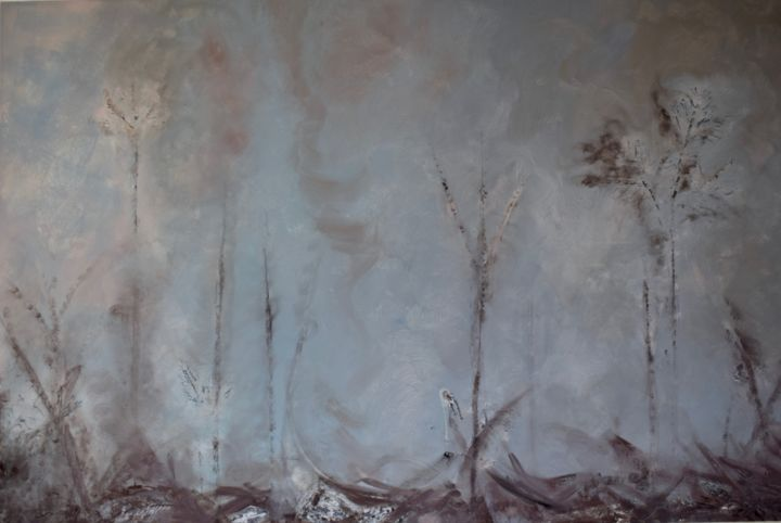 Incendie en Amazonie - Painting,  51.2x76.8 in, ©2019 by Elitrompe -                                                                                                                                                                          Abstract, abstract-570, Tree