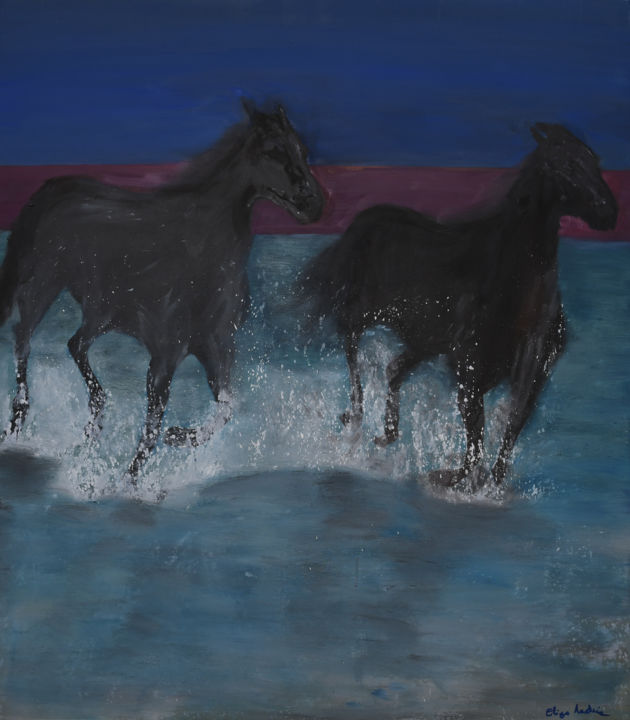 """Painting titled """"Caballus"""" by Eliza Matica, Original Art, Oil"""