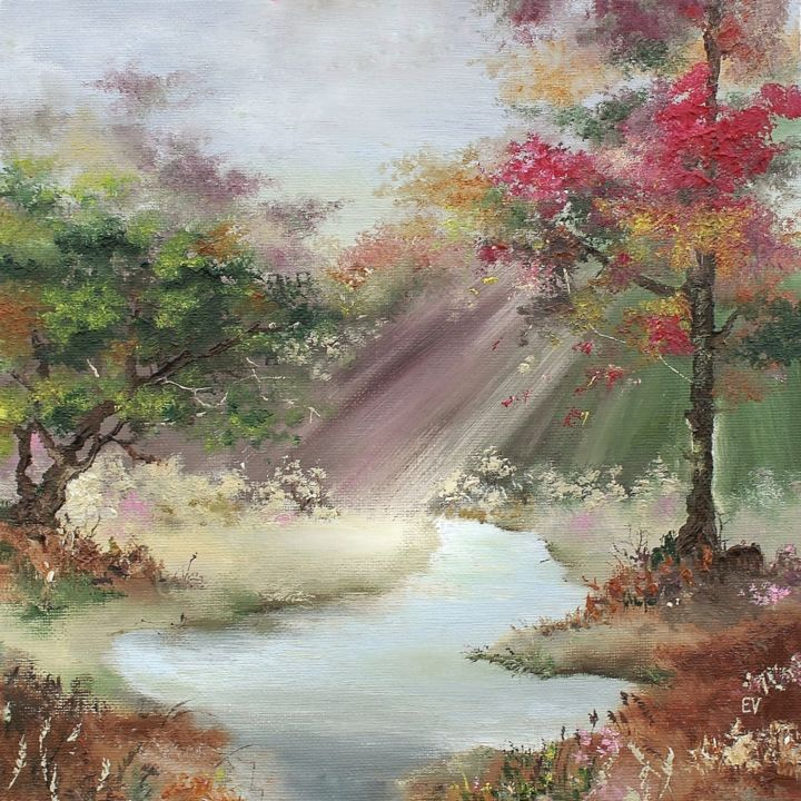 """Painting titled """"""""Лес"""""""" by Elena Strelets, Original Art, Oil"""