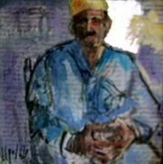 No Title - Painting,  5.9x5.9 in ©2004 by My El Mamoune Alaoui Jamali -