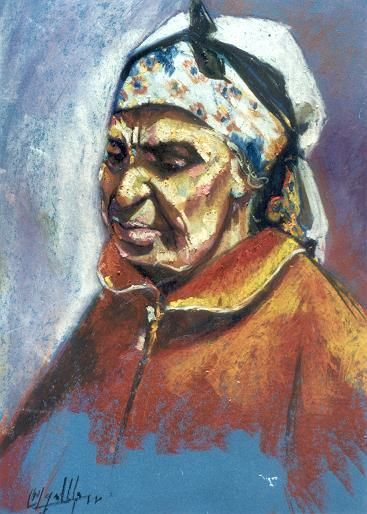 ph9.jpg - Painting,  25.6x21.7 in, ©2004 by My El Mamoune Alaoui Jamali -