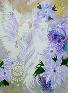 """Painting titled """"ANGEL OF 11:11"""" by Eloryia Ra, Original Art, Other"""